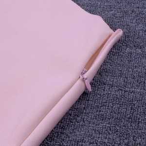 2020 Summer High Quality Women Sexy Pink Bandage Skirt