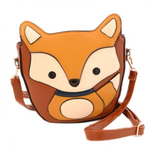 Stylish Women S Crossbody Bag With Fox Pattern And Pu Leather Design