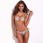 The Belle of the Beach - RELLECIGA Full-Lined Flirty Jungle Pattern Bikini Set with Mild Push-up Molded Foam Padding