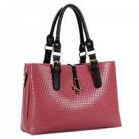 Fashionable Women's Shoulder Bag With Weaving and Buckle Design