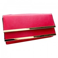 Stylish Women's Clutch With Metal and Solid Color Design