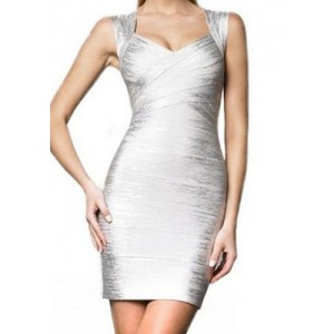Solid Color Sexy Sweetheart Neck Backless Packet Buttock Bandage Dress For Women