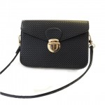 Trendy Women's Crossbody Bag With Solid Color and Push-Lock Design