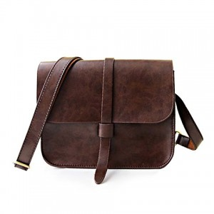 Vintage Style Women's Crossbody Bag With Solid Color and PU Leather Design