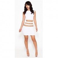 Women's Export Fashion Hollow Slim Fit Sexy Nightclub Bandage Dress