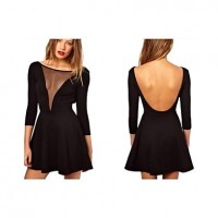 Women Sexy Nightclub Deep V-neck Dress