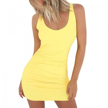 Backless Summer Slim Short Pencil Mini Dress