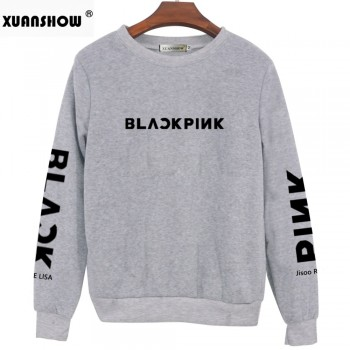 BLACKPINK Album Pullover Printed Long Sleeve White Gray Black