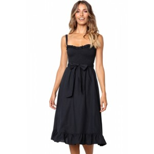 Arlette Dress Black White Nude