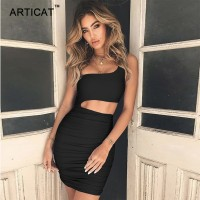 Off Shoulder Sexy Bodycon Bandage Dress Women Sexy Strapless Long Sleeve Black