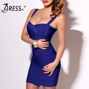 Bandage Dress Sexy Mini Spaghetti Strap Bodycon Strapless Club