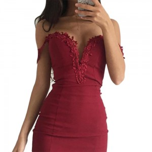 Sweetheart Neck Lace Slim Bodycon Party Clubwear Sexy Woman Mini Dress