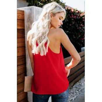 Black Bold Beautiful Racerback Tank Red