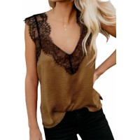 Orange One More Night Lace Cami Tank
