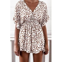 Cheetah Print Playsuit