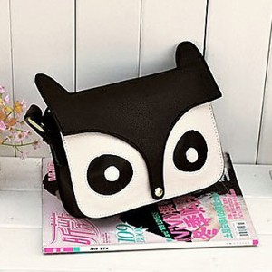 PU Fox Design Crossbody Bag