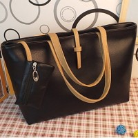 Thin Belt Large Square Tote