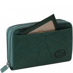 Buxton Heiress Double Zip Indexer Green