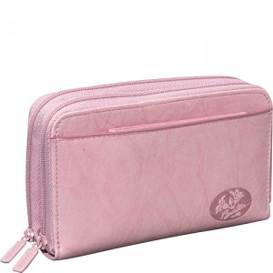 Buxton Heiress Double Zip Indexer Pink