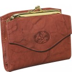 Buxton Heiress French Purse Brown