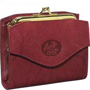 Buxton Heiress French Purse Burgundy