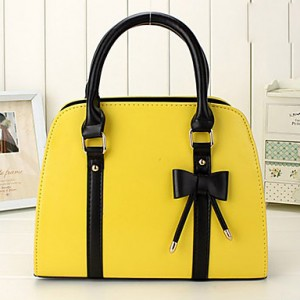 Cute Bow Contrast Color Tote