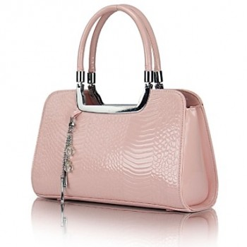 Fashion Contrast Color Crocodile Grain Tote