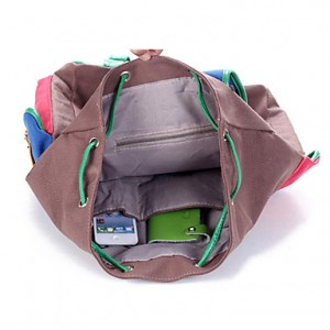Fashion Contrast Multi Color Casual Backpack