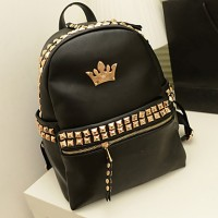 Fashion Rivet Large Backpack