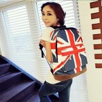 Flag Printed Travel Backpack
