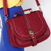 Lady's Fashion Check Satchel/Crossbody Bag