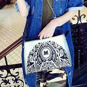 Lady's Vintage Special Print Message Bag