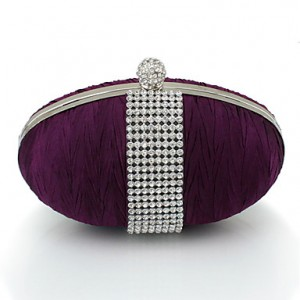 Satin Rhinestones Evening Bag
