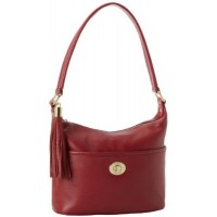 Tommy Hilfiger Turnlock Tassel Small Pebble Bucket Hobo