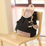 Trendy Color Block Backpack