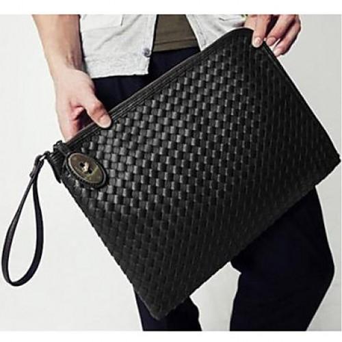 Uni Casual Trendy Pu Leather Clutch Bag