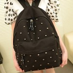 Vintage Canvas Rivet Simple Backpack with Straps