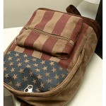 Vintage Flag Pattern Backpack