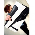 Women's Black&white Spring-season Print Clutch