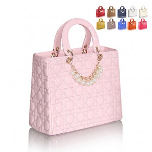 Women's Cute Vinatage Print Beaded Tote