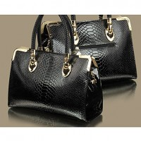 Women's Fake Crocodile Tote