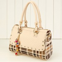 Women's Fashion Check Tote