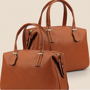 Women's Vintage PU Leather Amphibious Tote