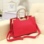 Women's Vintage PU Leather Satchel