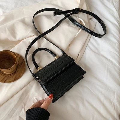 2020 Stone Pattern Leather Crossbody Bags For Women Handbags and Purses Fashion Mini Shoulder Messenger Bags Female Small Flaps