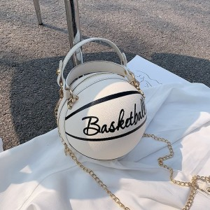 Basketball Shape Small Leather Chain Design Crossbody Bags For Women Fashion Shoulder Messenger Female Luxury Handbags and Purse