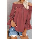 Red Longing For You Off The Shoulder Top