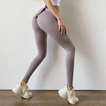 Bowknot lift hip Sports pants High Waist Yoga Leggings Scrunch Butt Workout Sports Women Fitness Leggings Gym Running Tights