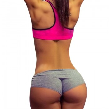 2019 Feminino Summer Sexy Shorts Women Fitness Workout Shorts Casual Slim Fitness Belt Tight Short Beach Egde Short Pants Black Gray Pink