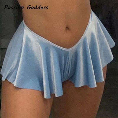 Sexy Women Pleated Shorts Skirts Dance High Waist Girls Mini Shorts Party Nightclub Cosplay Ruffles Mini Shorts Skirts Femininos